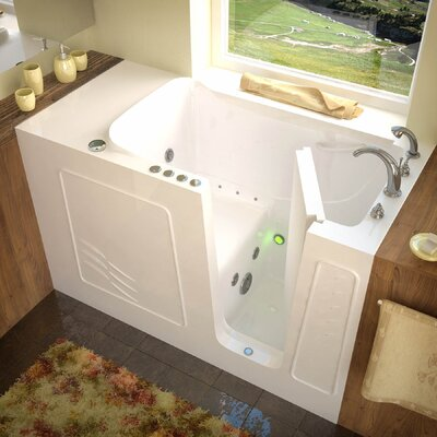 Tucson 60 x 30 Whirlpool & Air Jetted Bathtub Drain Location: Right, Finish: White