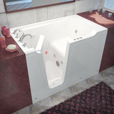 Crescendo 60 x 36 Walk-In Whirlpool Bathtub Drain Location: Right