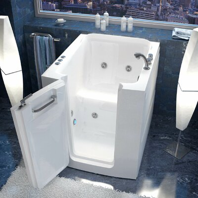 Durango 38 x 32 Walk-In Whirlpool Bathtub Drain Location: Left