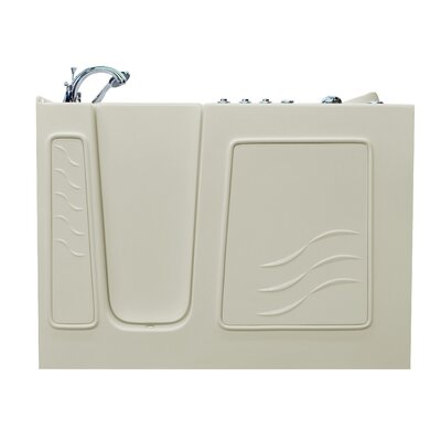 Ashton 53 x 30 Walk-In Air and Whirlpool Jetted Bathtub Drain Location: Left, Color: White
