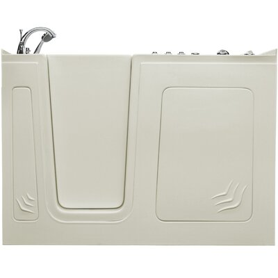Aspen 60 x 32 Walk-In Air and Whirlpool Jetted Bathtub Color: White, Drain Location: Left