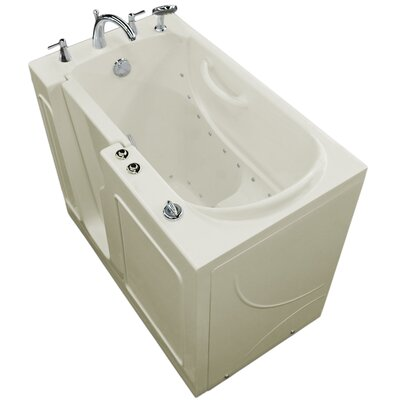 Prairie 46 x 26 Walk-In Air Jetted Bathtub Color: Biscuit, Drain Location: Left