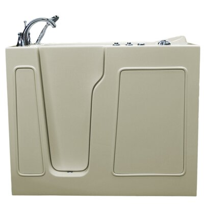 Prairie 46 x 26 Walk-In Air and Whirlpool Jetted Bathtub Color: Biscuit, Drain Location: Left