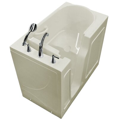 Prairie 46 x 26 Walk-In Bathtub Drain Location: Right, Color: White