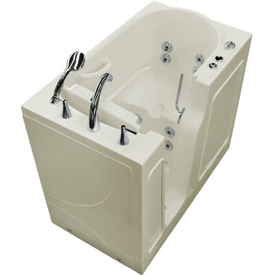 Prairie 46 x 26 Walk-In Whirlpool Bathtub Drain Location: Right, Color: White