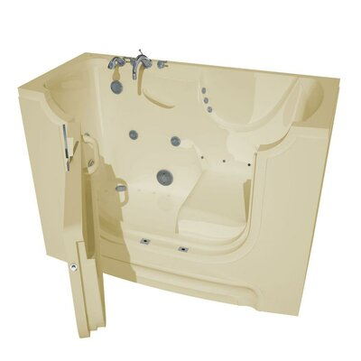 HandiTub 60 x 30 Walk-In Air and Whirlpool Jetted Bathtub Color: Biscuit, Drain Location: Left