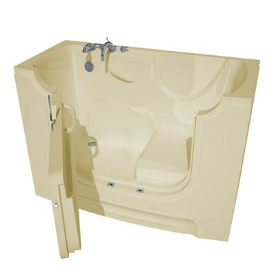 HandiTub 60 x 30 Walk-In Bathtub Color: Biscuit, Drain Location: Right