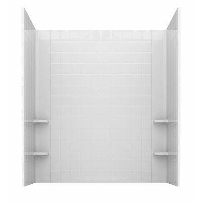 Prairie 46 x 26 Walk In Air Bathtub Color: White, Drain Location: Right