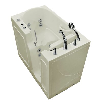 Prairie 46 x 26 Walk In Whirlpool Bathtub Color: Biscuit, Drain Location: Right