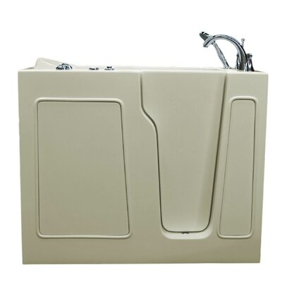 Prairie 46 x 26 Walk In Whirlpool Bathtub Color: Biscuit, Drain Location: Left
