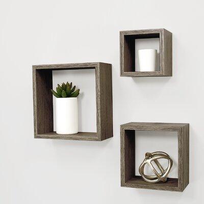 Cubbi 3 Piece Wall Shelf Set Color: Driftwood Gray FN00423-9INT