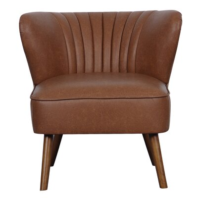 Crossroads Slipper Chair Upholstery: Cognac