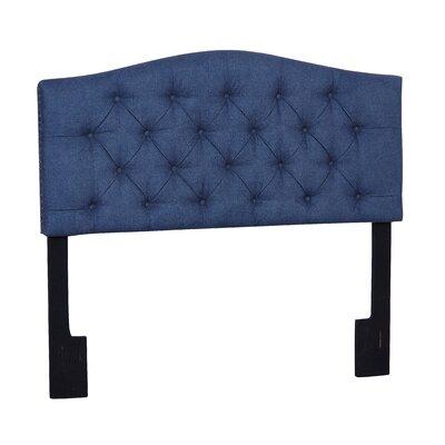 Carolina Upholstered Panel Headboard Size: Queen, Upholstery: Denim