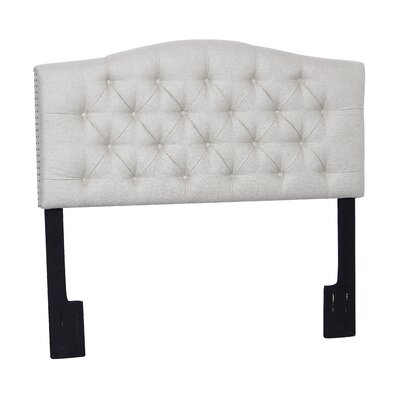 Carolina Upholstered Panel Headboard Upholstery: Linen, Size: King