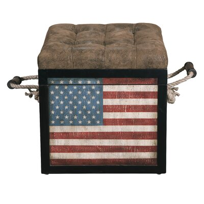 Old Glory Storage Ottoman