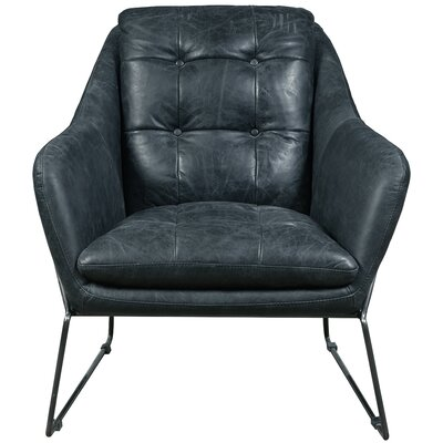 Acoustic Leather Lounge Chair Upholstery: Marina