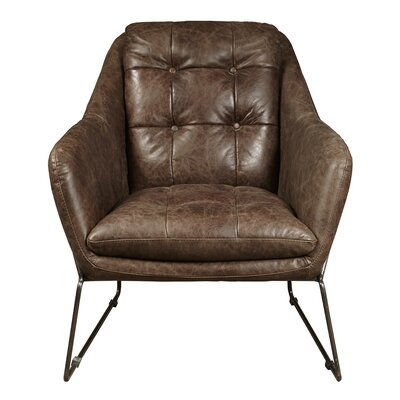 Acoustic Leather Lounge Chair Upholstery: Clara