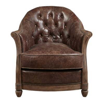 Tarheel Leather Barrel Chair