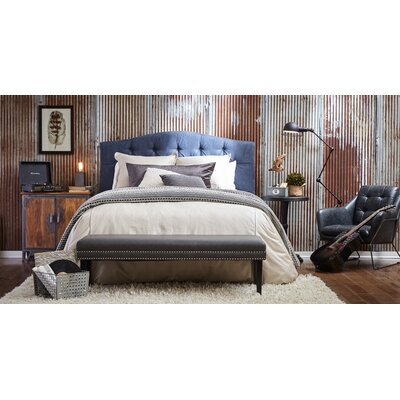 Carolina Upholstered Panel Headboard Upholstery: Denim, Size: King