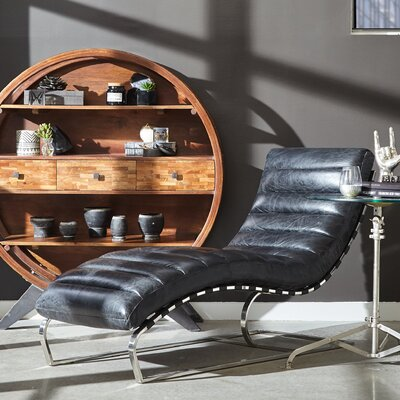 Intermission Leather Chaise Lounge