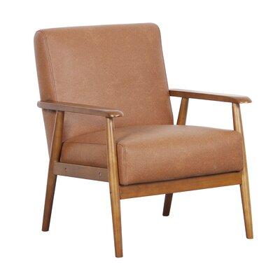 Barlow Arm Chair Upholstery: Cognac