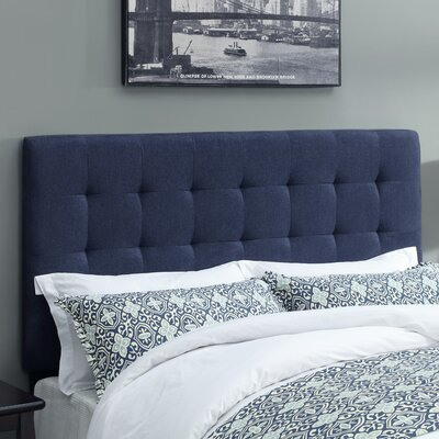 West Highland Upholstered Panel Headboard Size: King