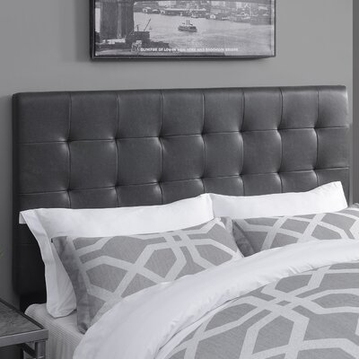 West Highland Upholstered Panel Headboard Size: Queen, Upholstery Color: Lummus Steel