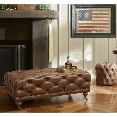 Kendra Leather Ottoman