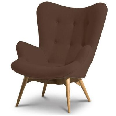 Hennis Lounge Chair Color: Brown