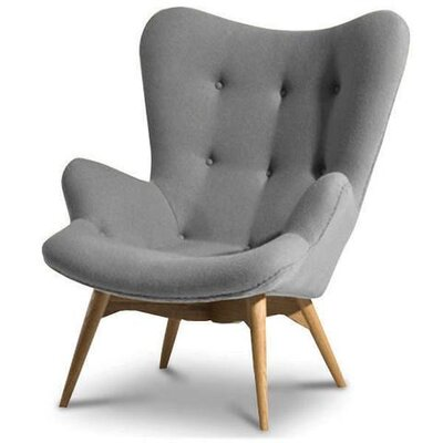 Hennis Lounge Chair Upholstery: Gray