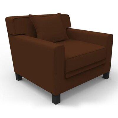 Hennings Armchair Color: Brown