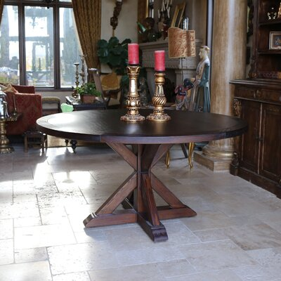 LaRue Reclaimed Wood Round Dining Table Size: 30 H x 54 L x 54 D, Finish: Cognac