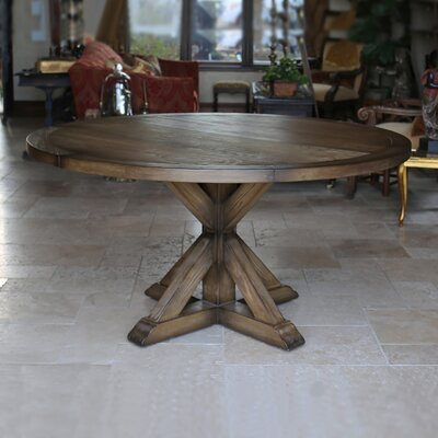 LaRue Reclaimed Wood Round Dining Table Size: 30 H x 60 L x 60 D, Finish: Smoke