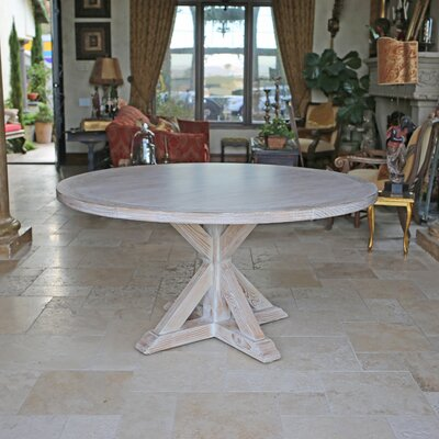 Armancourt Reclaimed Wood Round Dining Table Size: 30