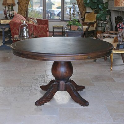 Lacour Reclaimed Wood Round Dining Table Size: 30 H x 60 L x 60 D, Finish: Cognac