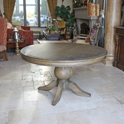 Florence Reclaimed Wood Round Dining Table Size: 30 H x 54 L x 54 D, Finish: Smoke