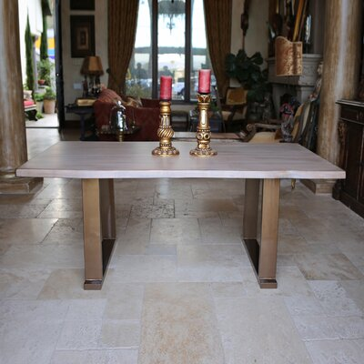 Danni Steel Dining Table Size: 30 H x 70 L x 40 D