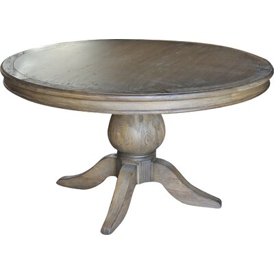 Lacour Reclaimed Wood Round Dining Table Size: 30 H x 54 L x 54 D, Finish: Smoke