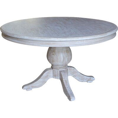 Lacour Reclaimed Wood Round Dining Table Size: 30 H x 60 L x 60 D, Finish: Vintage White