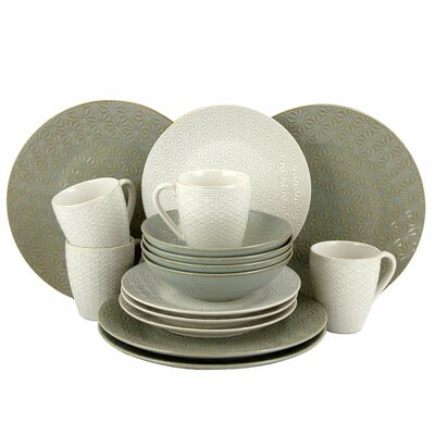 Terrace Textured 16 Piece Dinnerware Set