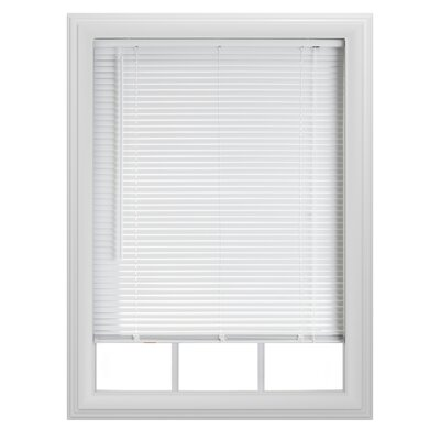 Semi-Sheer White Venetian Blind Size: 35 W x  64 L