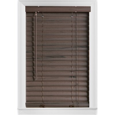 Embossed Room Darkening Brown Venetian Blind Size: 35 W x  64 L