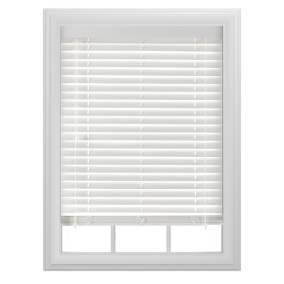 Sheer White Venetian Blind Size: 39 W x  64 L