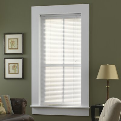 Sheer White Venetian Blind Size: 27 W x  64 L