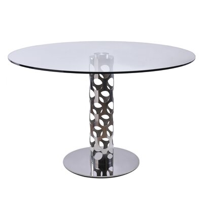 Levine Dining Table Base Finish: Polished Stainless Steel