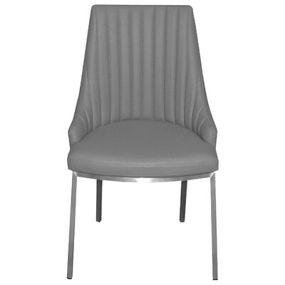 Monroe Side Chair Upholstery: Light Gray