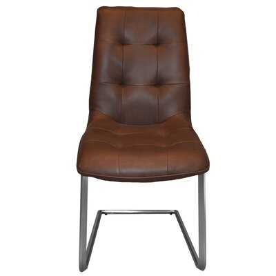 Navi Side Chair Upholstery: Dark Brown