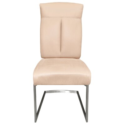 Leonis Side Chair Upholstery: Cream