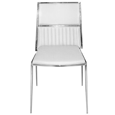 Stanley Side Chair Upholstery: White