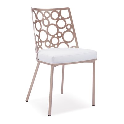 Levine Side Chair Upholstery: White
